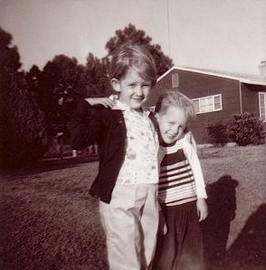 Julie and her brother, 1964.