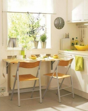 Dining Room Folding Dining Table For Small Spaces With Unpolished pertaining to Dining Table Small Kitchen